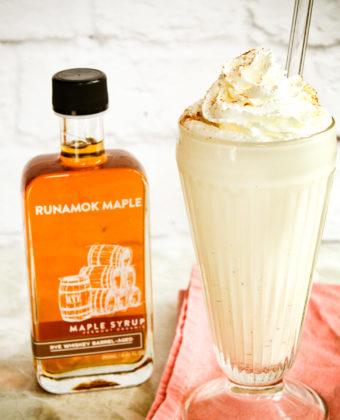 Maple syrup milkshake by Runamok Maple