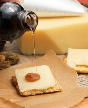 Cheese and maple syrup by Runamok Maple