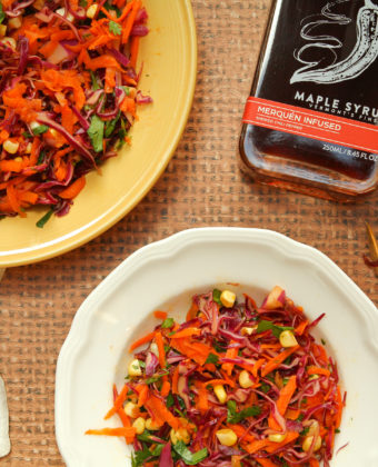 Spicy maple syrup cole slaw by Runamok Maple