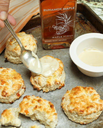 Apricot Scones with Ginger Maple Glaze by Runamok Maple