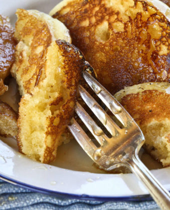 Maple syrup and pancakes by Runamok Maple