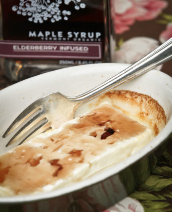 Baked Feta and maple syrup by Runamok Maple