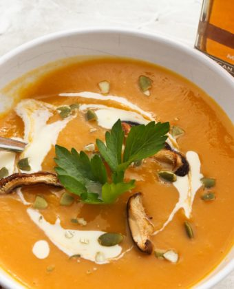 Smoked maple syrup and butternut squash soup by Runamok Maple