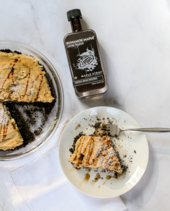 Crepes with Cocoa Bean Infused Maple Syrup by Runamok Maple