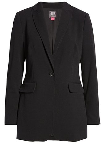 Vince Camuto notched collar blazer | 40plusstyle.com