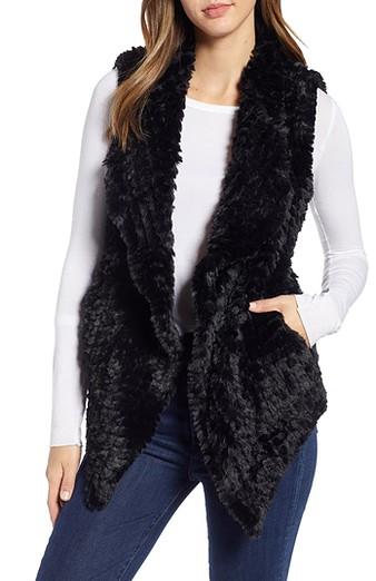 Faux fur vests for women over 40   40plusstyle.com