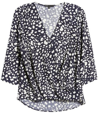 Gibson surplice blouse | 40plusstyle.com