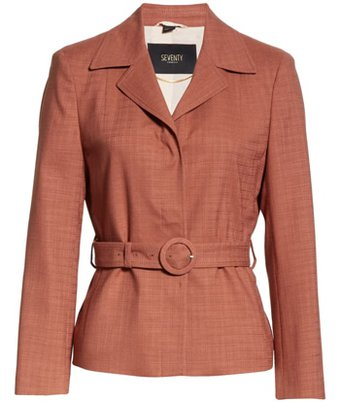 Seventy textured belted jacket | 40plusstyle.com