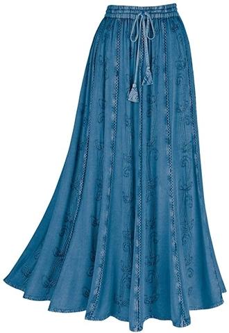 Catalog Classics boho skirt | 40plusstyle.com