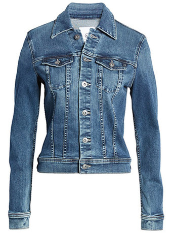AG denim jacket | 40plusstyle.com