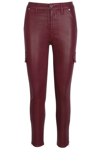 Seven coated skinny cargo pants | 40plusstyle.com