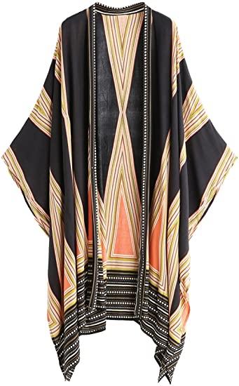 SweatyRocks printed kimono | 40plusstyle.com