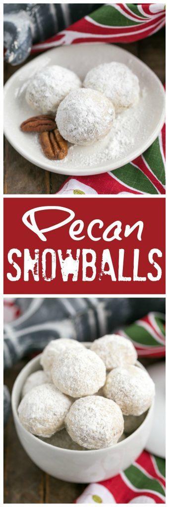 Pecan Snowballs Pinterest collage
