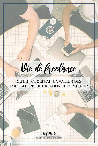 La valeur des prestations de création de contenu