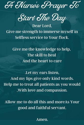 Nurse's Prayer for The Start of Day