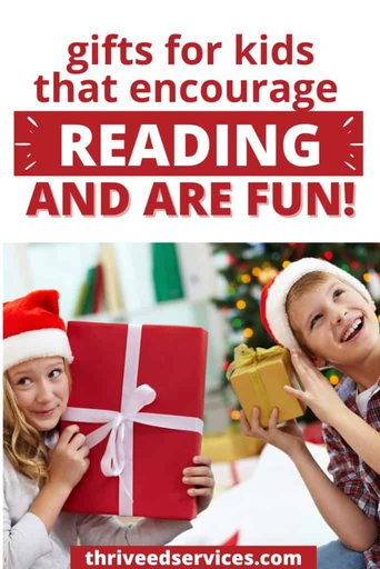 christmas gifts to help kids improve their reading skills pinterest image