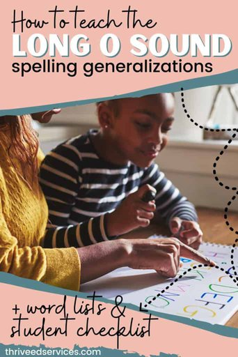 long o sound spelling generalizations pin image
