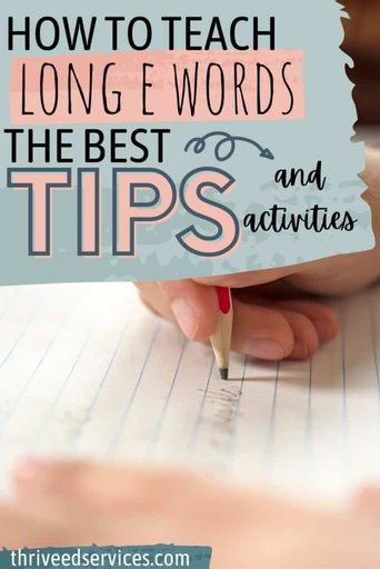 how to teach long e words the best tips and activities pin image