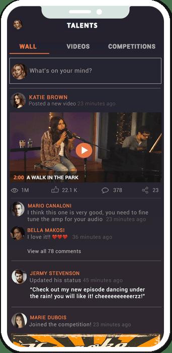 AppGotTalent app home screen