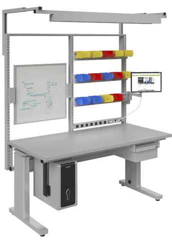 BOSTONtec manual height workstation
