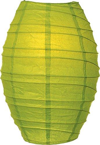 una Bazaar Cocoon Premium Paper Lantern Lamp Shade (10-Inch, Chartreuse Green)
