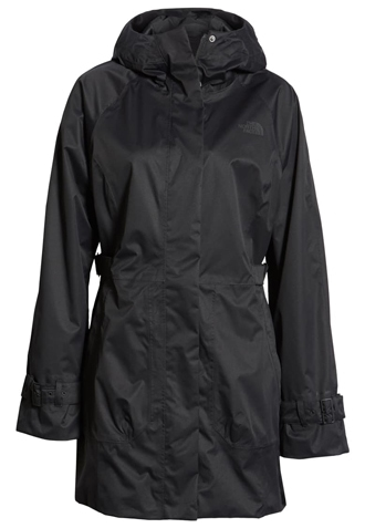 The North Face waterproof trench raincoat | 40plusstyle.com