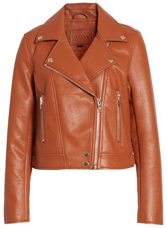 BLANKNYC faux leather moto jacket | 40plusstyle.com