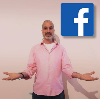 Immagine di Nicola e logo di Facebook