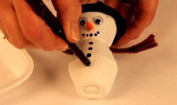 Boutons bonhomme de neige