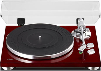 7. TEAC TN-300 Analog Turntable with Built-in Phono Pre-amplifier & USB Digital Output (Cherry)