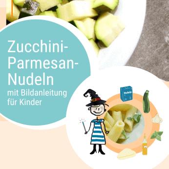 Rezept Zucchini-Parmesan-Nudeln