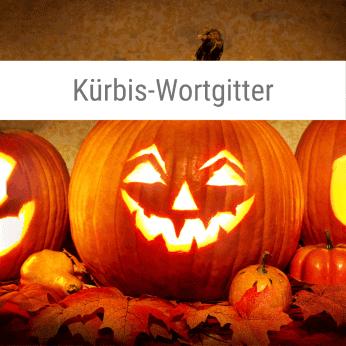 Kürbis-Wortgitter-Spiel