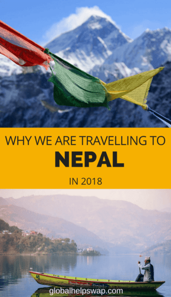 We are travelling to Nepal to experience the culture, taste the food, trek the mountains, meet the people and visit Kathmandu and Pokhara