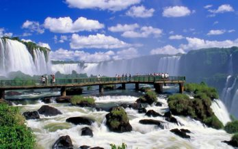 bridge by Iguazu waterfalls