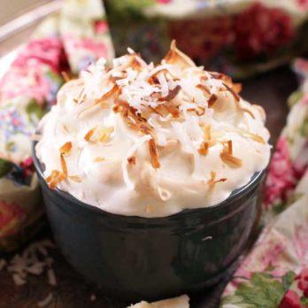 coconut cream pie for one | one dish kitchen