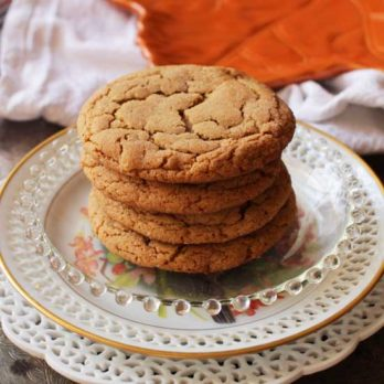 stack of soft ginger cookies