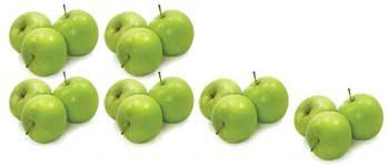 6 mal 3 Äpfel
