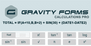 Gravity Forms Calculations Pro