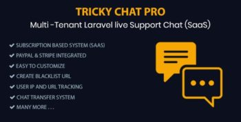 Tricky Chat Pro - Multi Tenant Live Support Chat (SaaS)