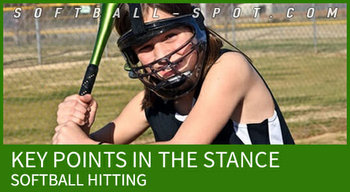 SOFTBALL HITTING POINTS STANCE