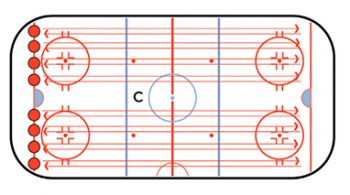 push and glide hockey skating drill