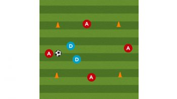 split the seam soccer defensive drill featured