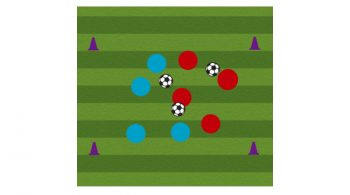 three ball possession soccer passing drill