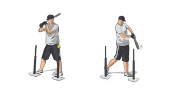 Two Tee Baseball Hitting Drill