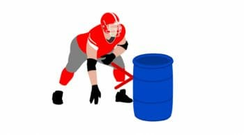 Barrel Drills for Football Running Back Agility