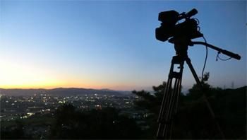 夕景とカメラ