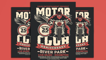 Motorcycle Flyer Design