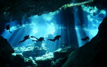 Scuba diving in the cenotes of Yucatan