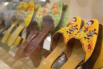 プラナカン女性のビーズ刺繍の靴画像