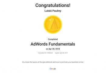 Google certifikát AdWords